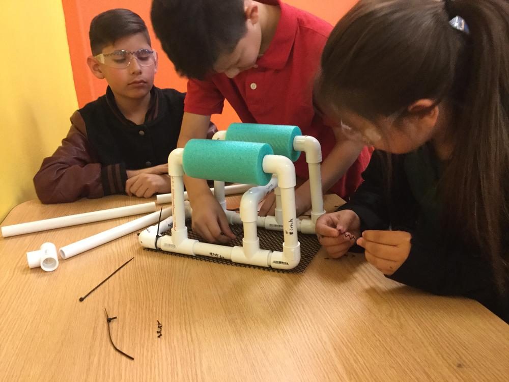SRM Robotics Team constructs the Chassis for their SeaPerch Robot
